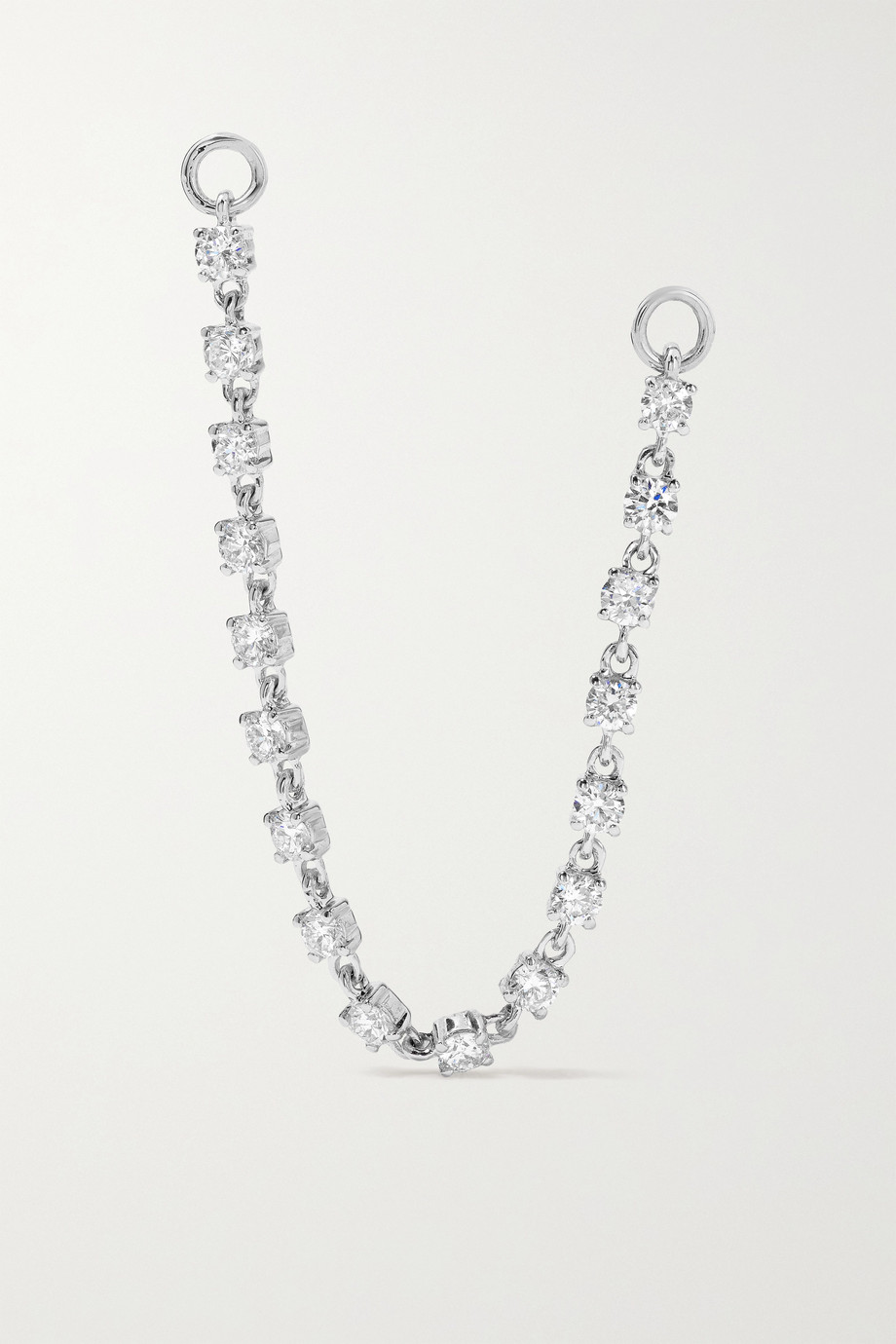 Anita Ko 18-karat white gold diamond earring chain