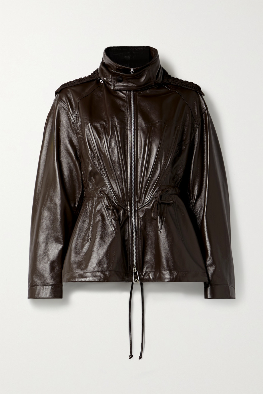 Bottega Veneta Macramé-trimmed leather jacket