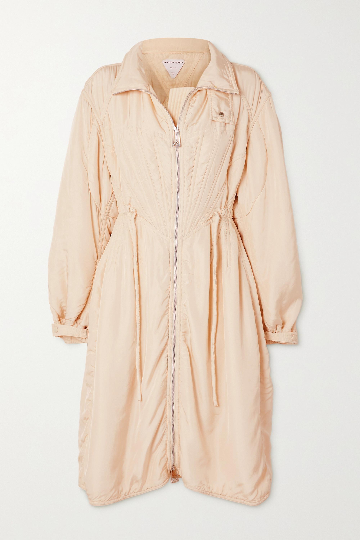 Bottega Veneta Manteau à capuche en tissu technique et en résille