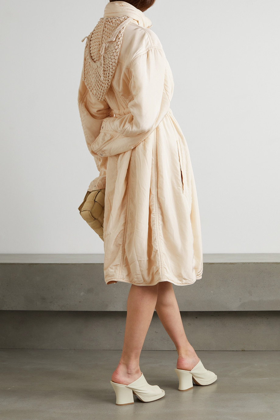Bottega Veneta Hooded shell and mesh coat