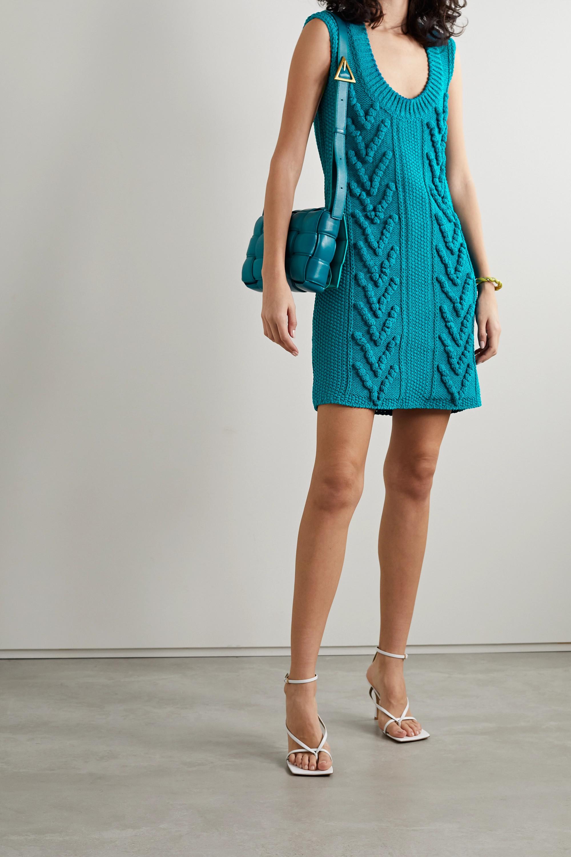Bottega Veneta Cutout cotton-blend mini dress