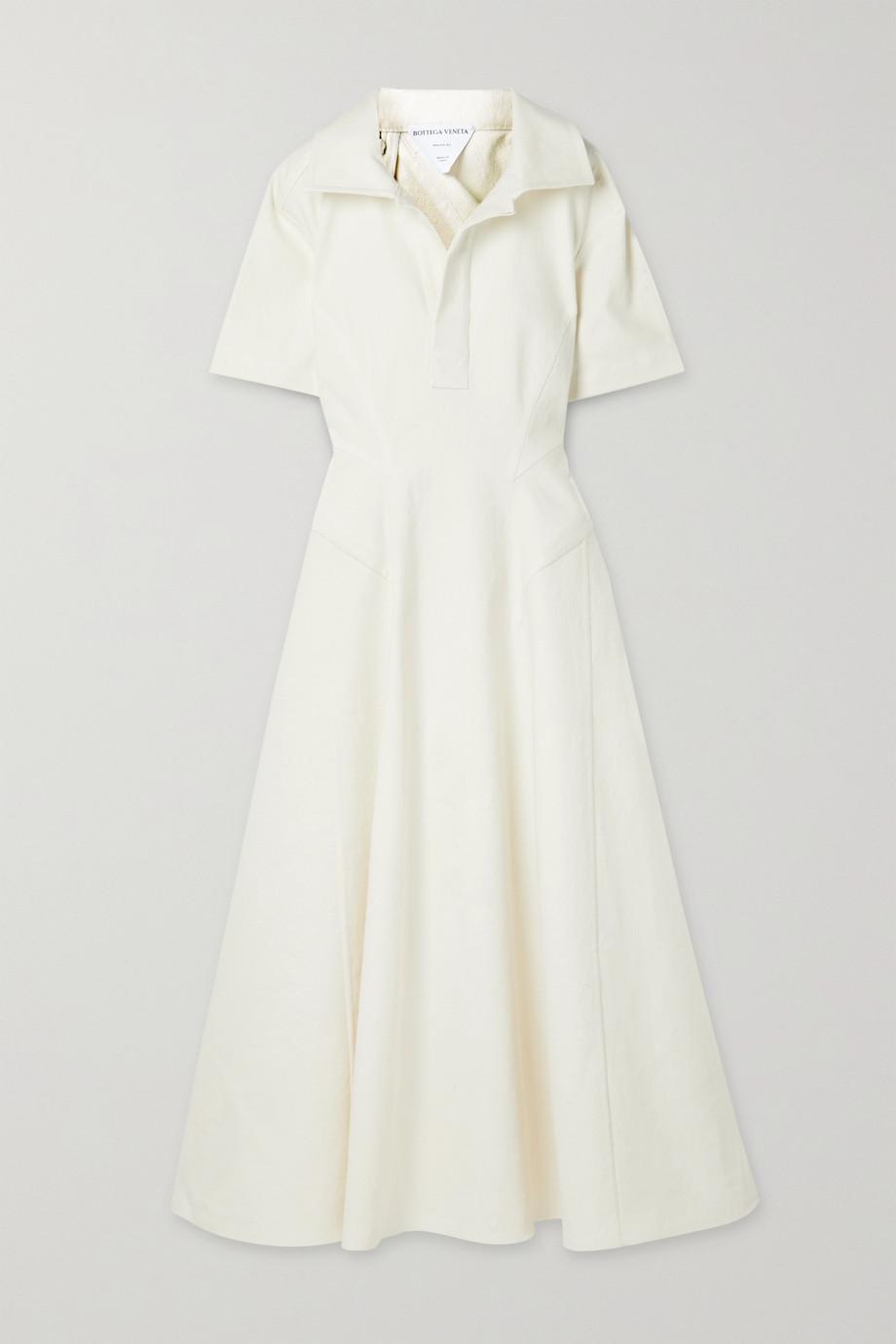 Bottega Veneta Stretch-linen midi dress