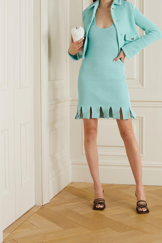 Bottega Veneta Veste raccourcie en coton mélangé à mailles ajourées