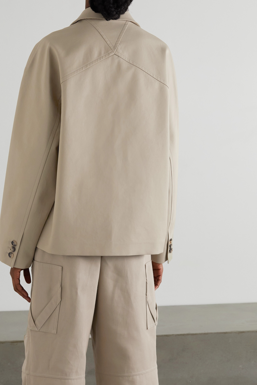 Bottega Veneta Blazer à double boutonnage en serge de coton