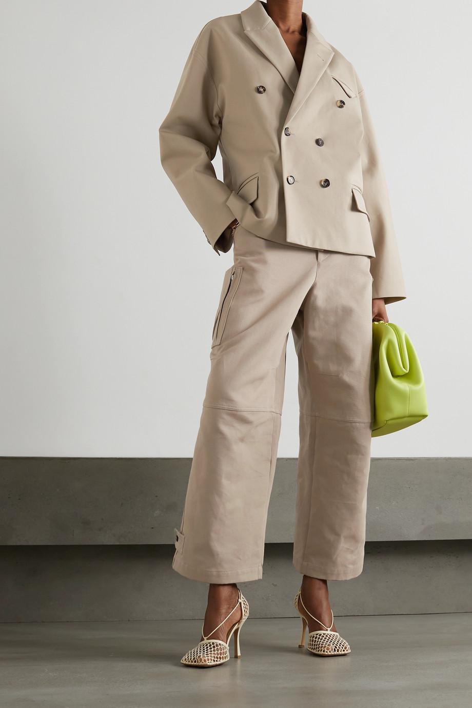 Bottega Veneta Double-breasted cotton-twill blazer
