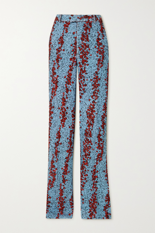 Bouclé straight-leg pants by Bottega-Veneta, available on net-a-porter.com for $1850 Kylie Jenner Pants Exact Product