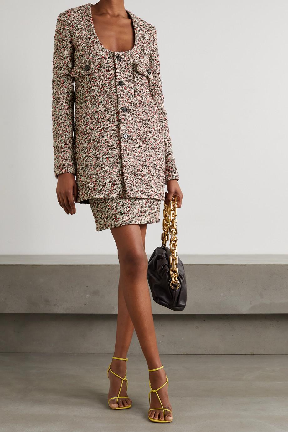 Bottega Veneta Cotton-blend bouclé mini skirt