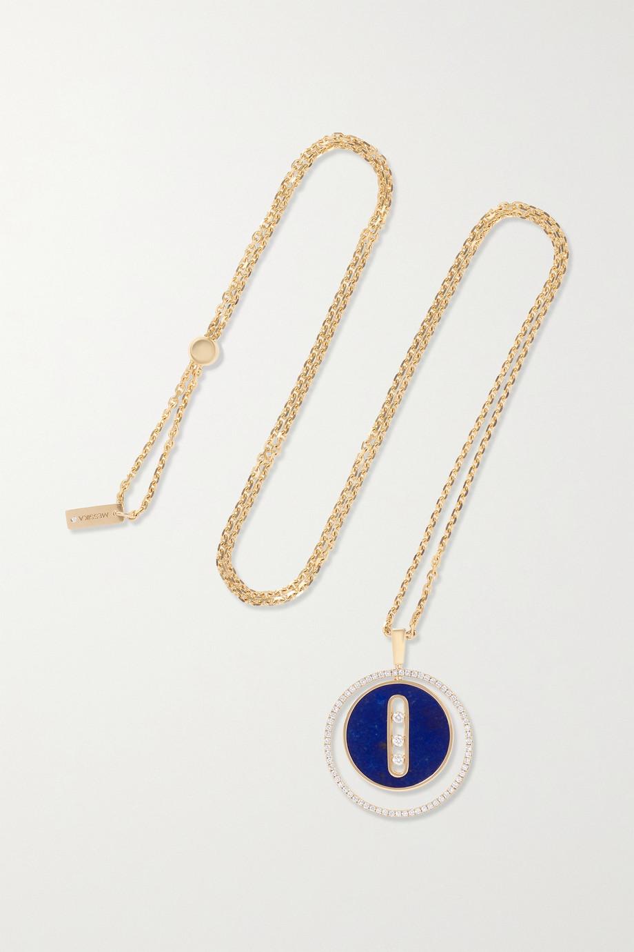 Messika Collier en or 18 carats, lapis-lazuli et diamants Lucky Move