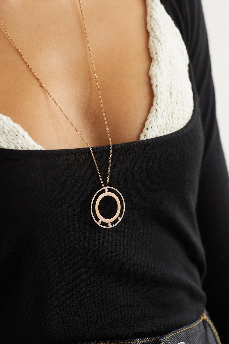 Messika Collier en or rose 18 carats et diamants Move Romane