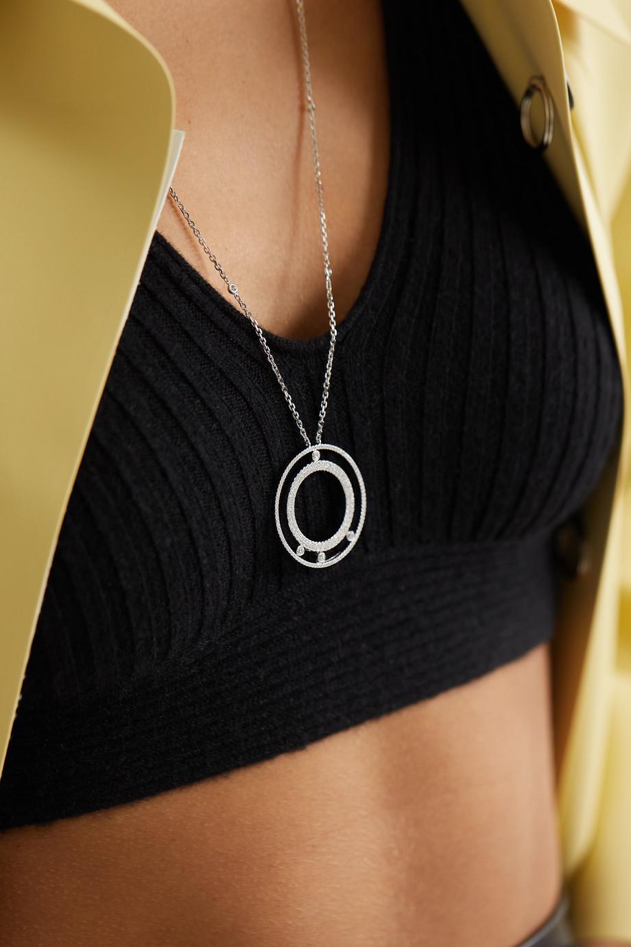 Messika Move Romane 18-karat white gold diamond necklace