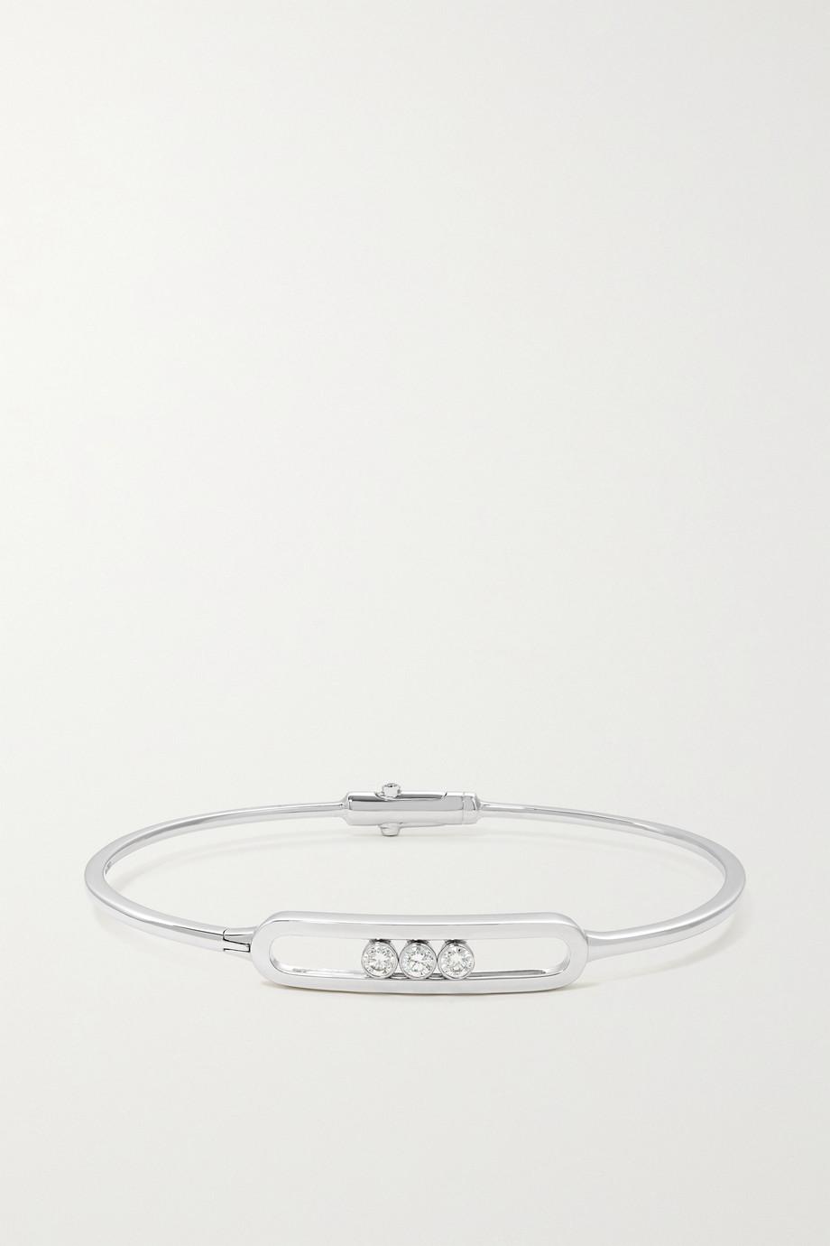 Messika Bracelet en or blanc 18 carats (750/1000) et diamants Move