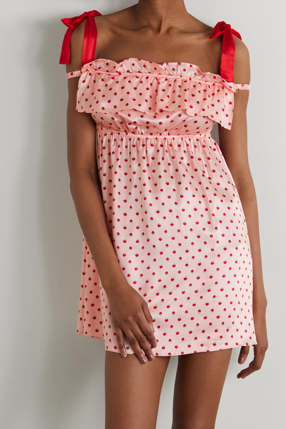 Morgan Lane Rosemarie Nachthemd aus bedruckter Charmeuse