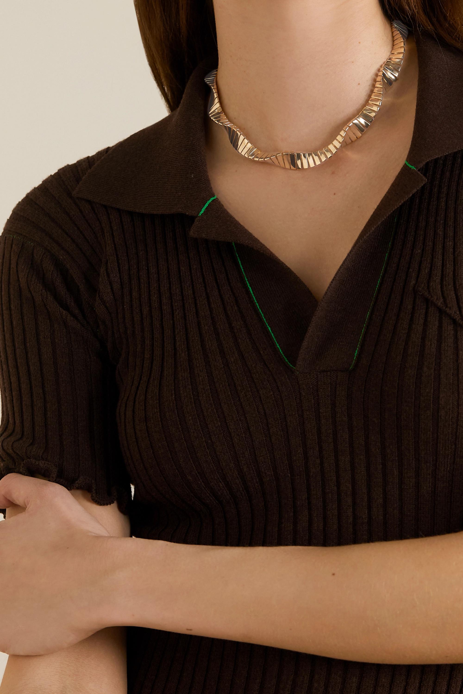 Bottega Veneta Twist gold-plated necklace