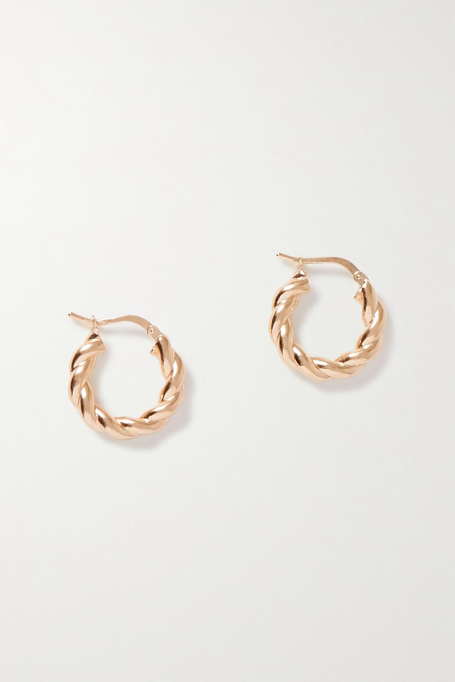 Bottega Veneta Gold-plated hoop earrings