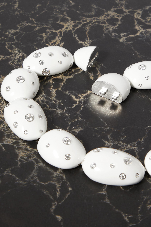 Bottega Veneta Tour de cou en argent, émail et cristaux