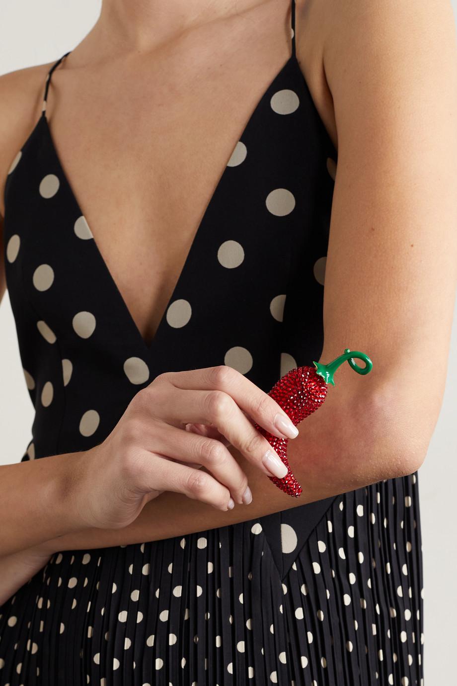 Judith Leiber Couture Chilli Pepper Döschen mit Kristallen und goldfarbenen Details