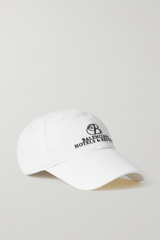 Balenciaga - Embroidered cotton-twill baseball cap