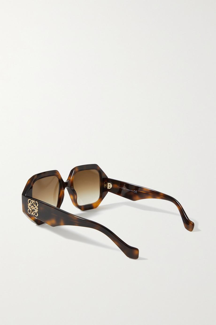 Loewe Sonnenbrille mit achteckigem Rahmen aus Azetat in Hornoptik