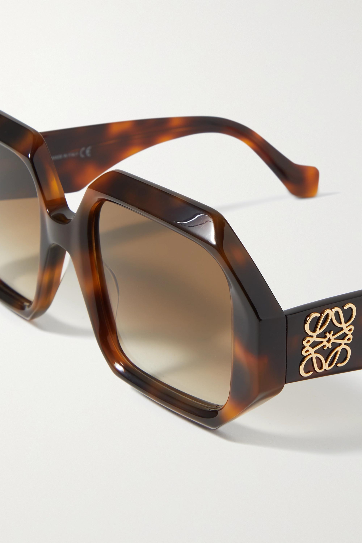 Loewe Octagon-frame tortoiseshell acetate sunglasses