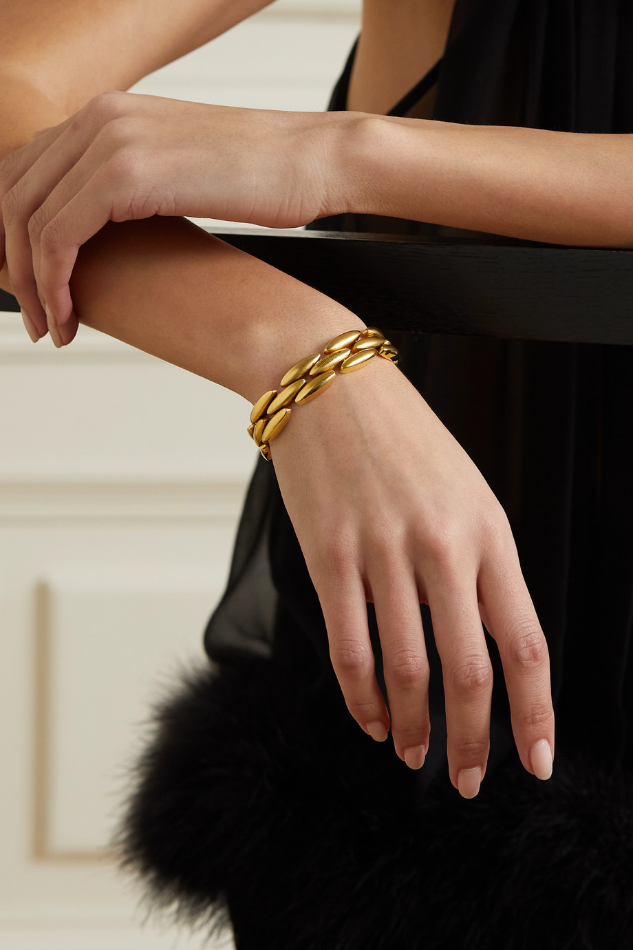 SAINT LAURENT Bracelet doré