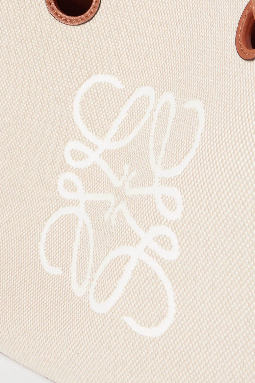 Loewe Sac à main en toile à finitions en cuir et à broderies Anagram Small