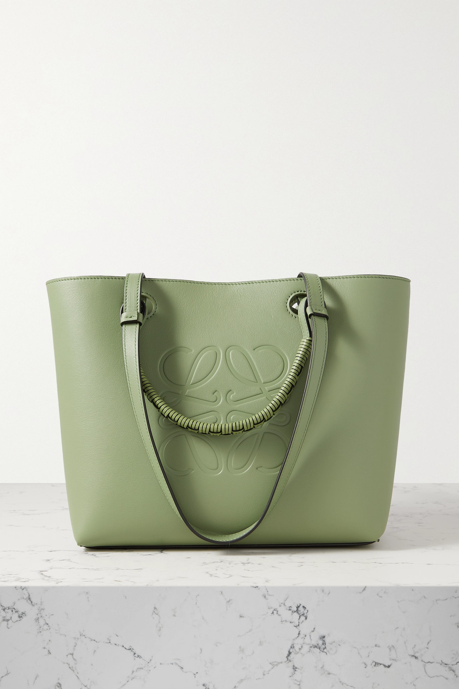 Loewe Anagram small debossed leather tote