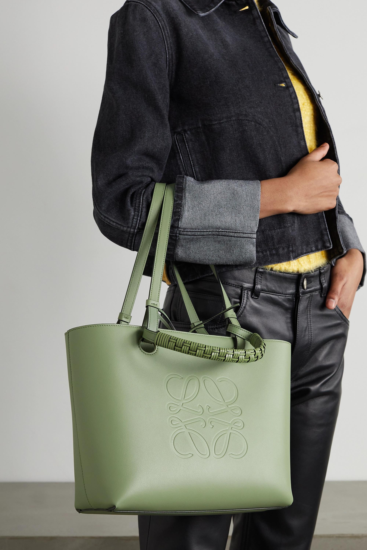 Loewe Anagram small debossed leather tote