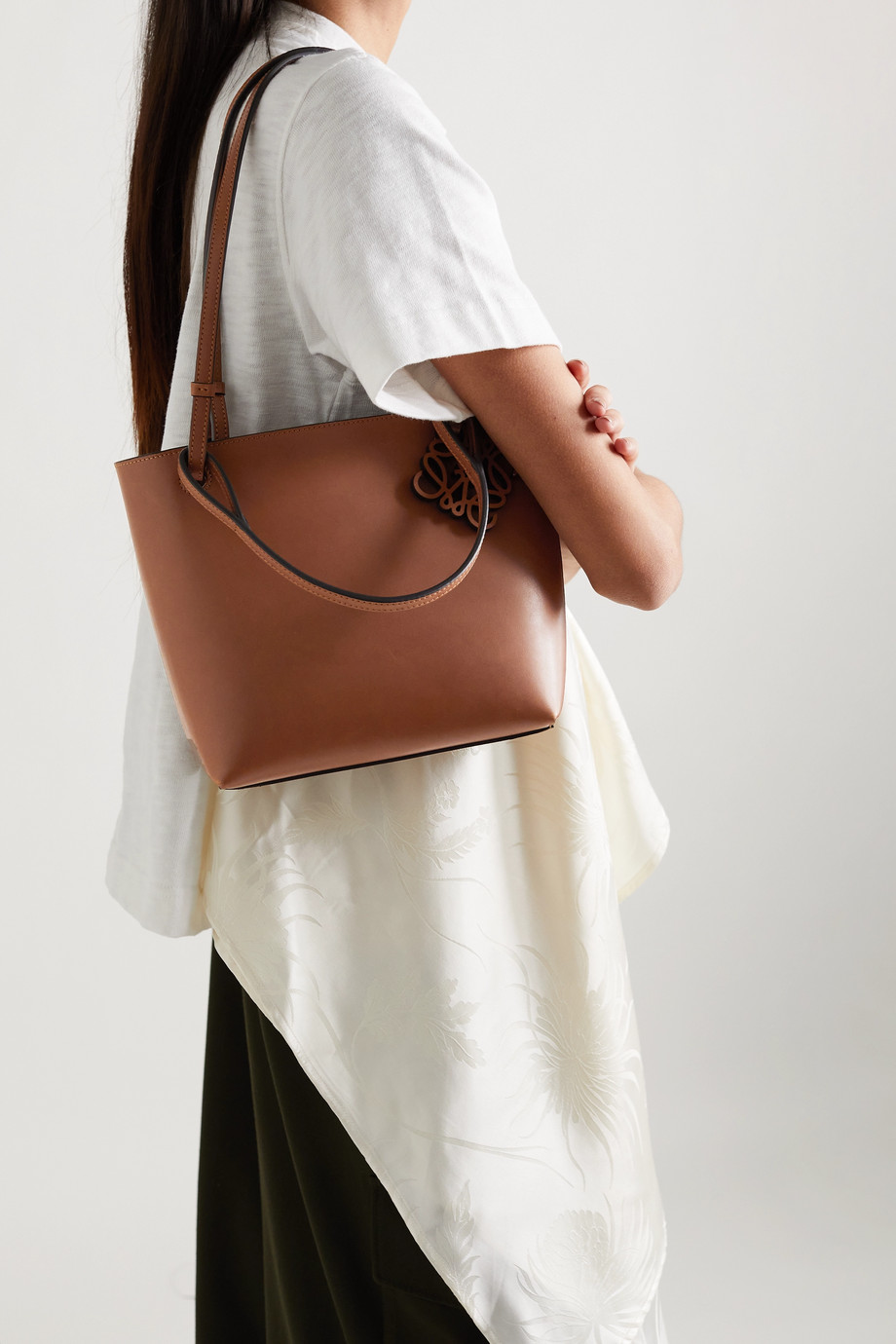 Loewe Double Handle leather tote