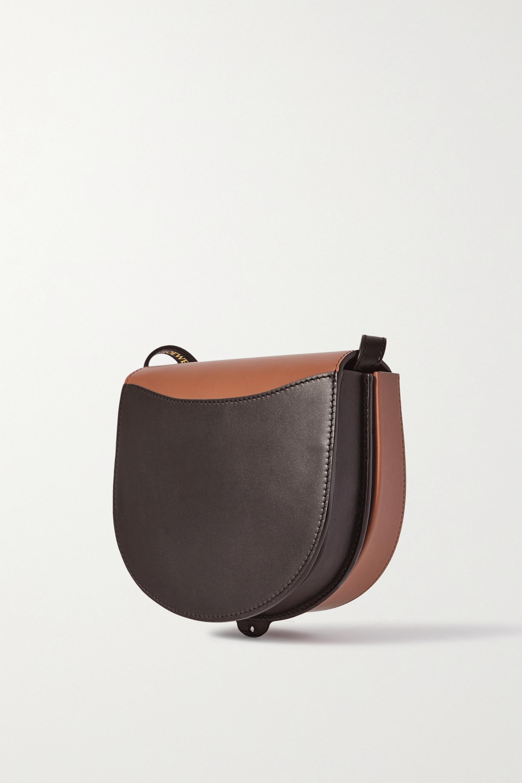 Loewe Heel Duo two-tone leather shoulder bag
