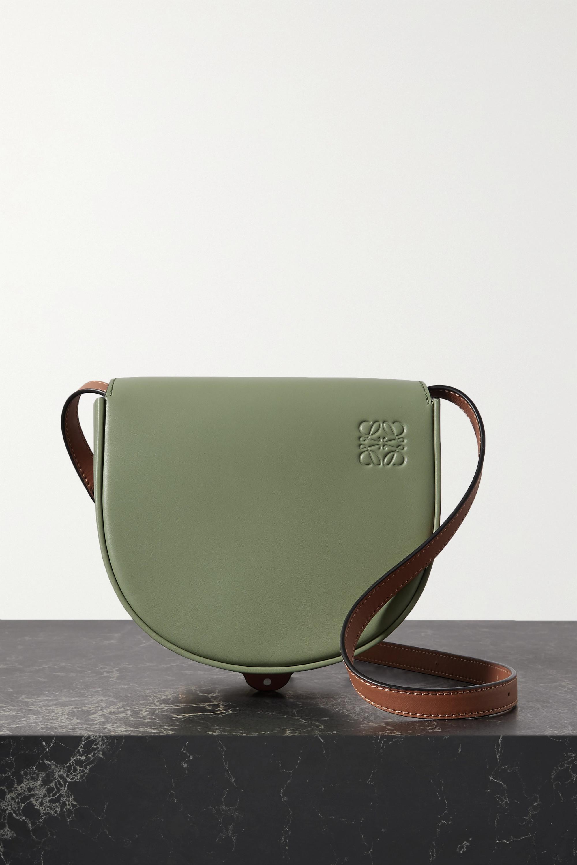 Loewe Heel Duo zweifarbige Schultertasche aus Leder