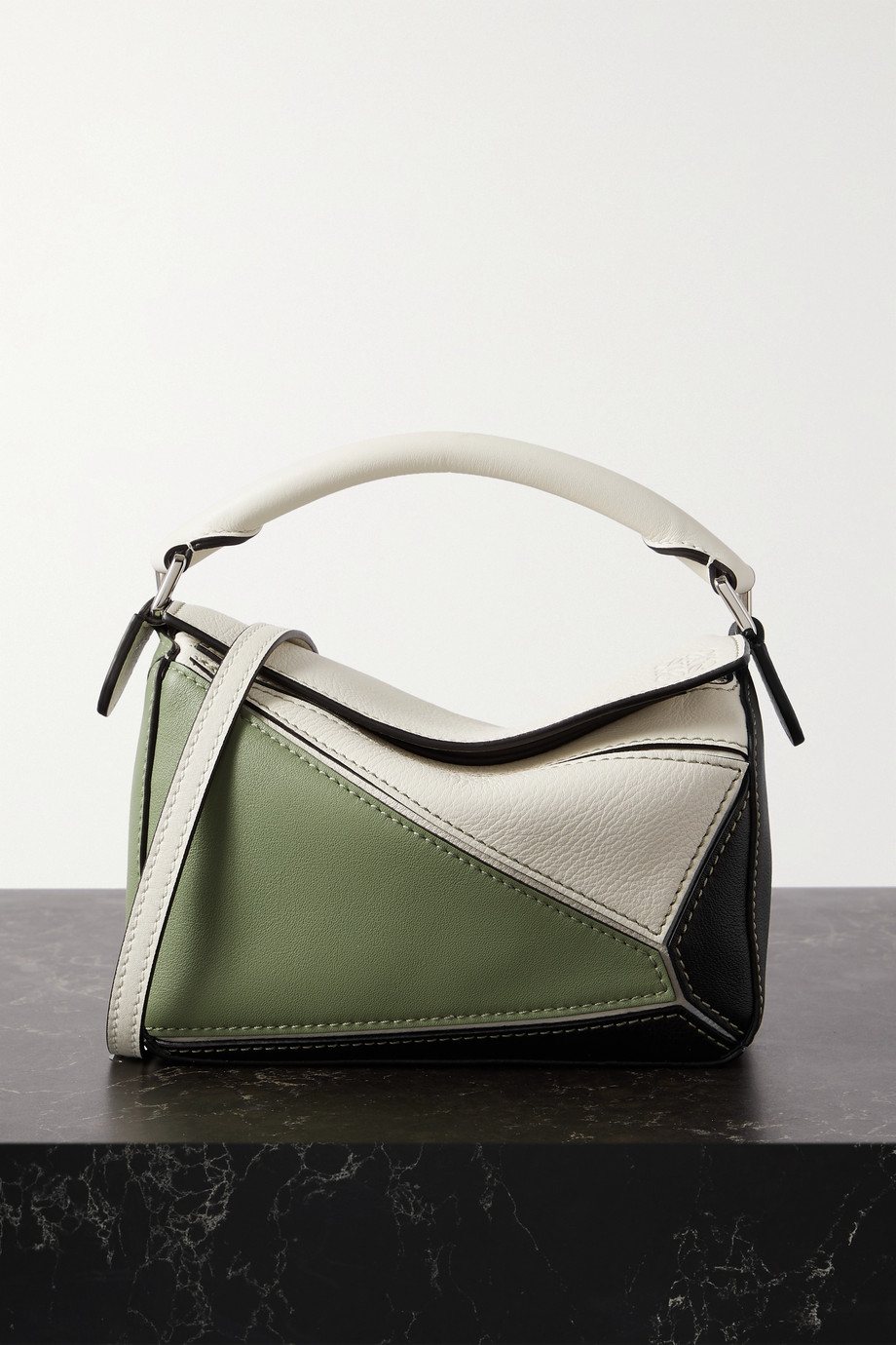 Loewe Puzzle mini color-block leather shoulder bag