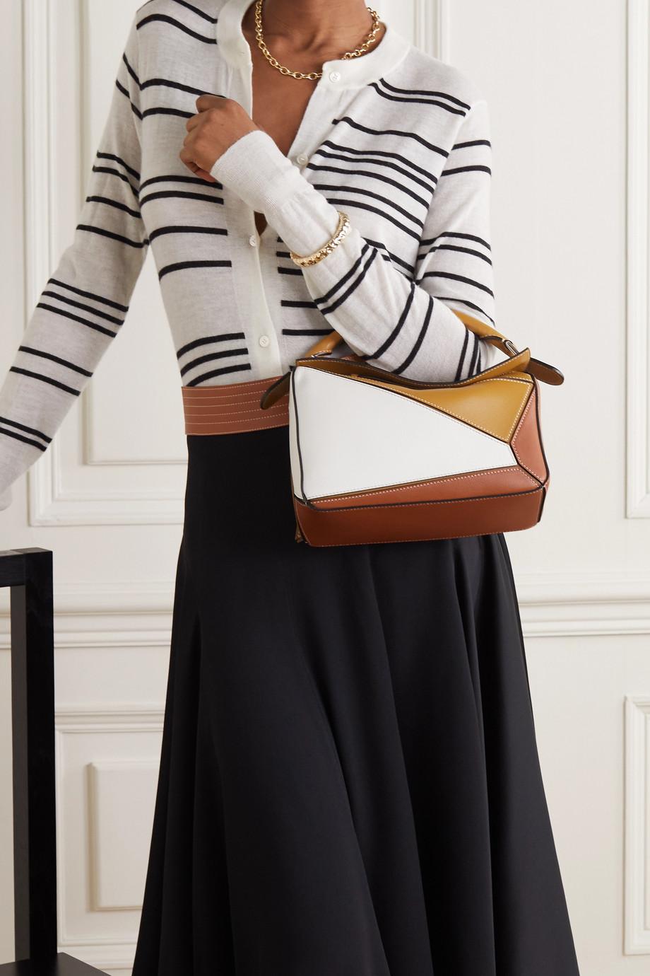 Loewe Puzzle small color-block leather shoulder bag