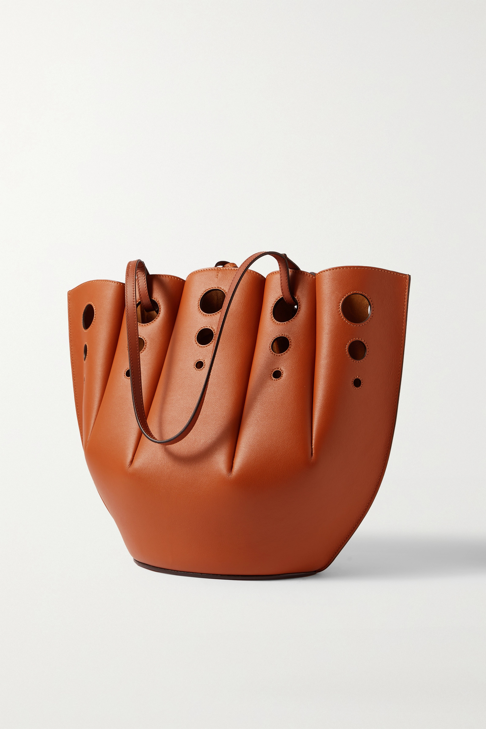 Loewe Shell medium cutout leather tote