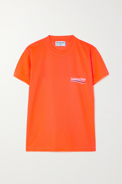 Balenciaga T-shirt en jersey fluo imprimé