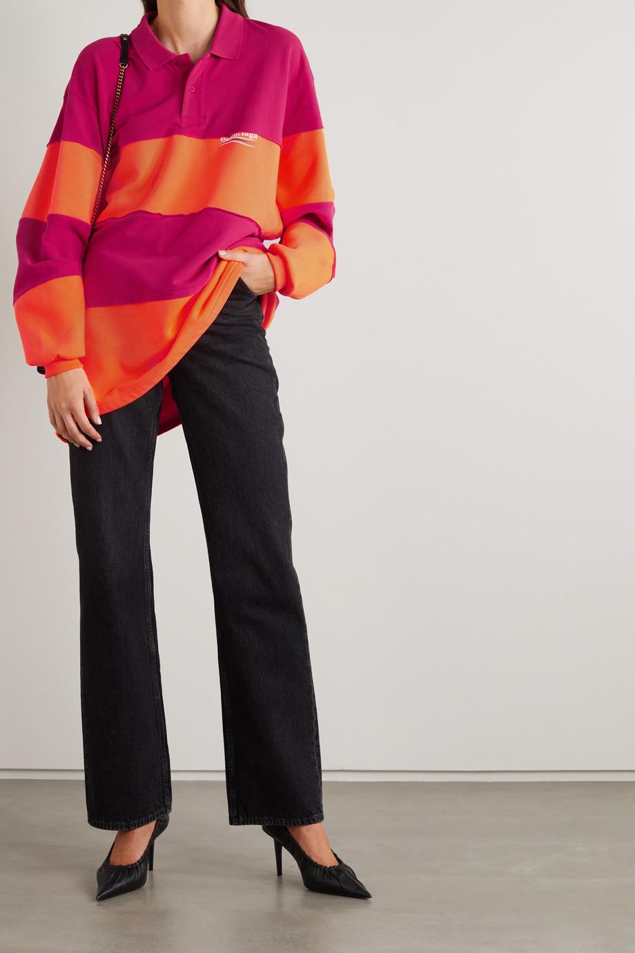 Balenciaga Polo oversize en piqué de coton et en jersey