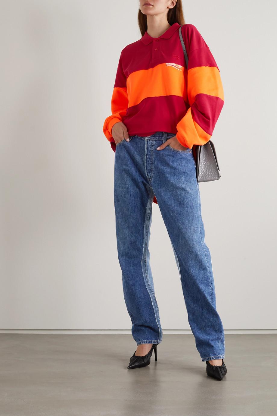 Balenciaga Jean large taille mi-haute bicolore