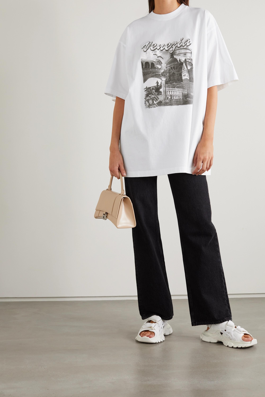 Balenciaga T-shirt oversize en jersey de coton imprimé