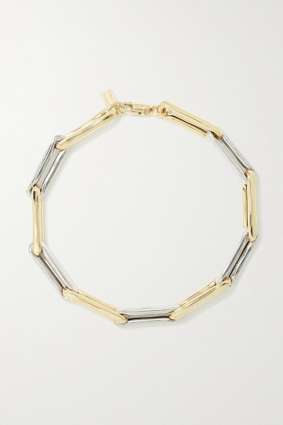 Lauren Rubinski Collier en or jaune et blanc 14 carats (585/1000) Extra Large