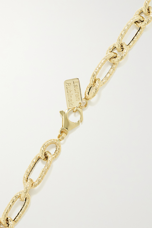 Lauren Rubinski Small Kette aus gehämmertem 14 Karat Gold