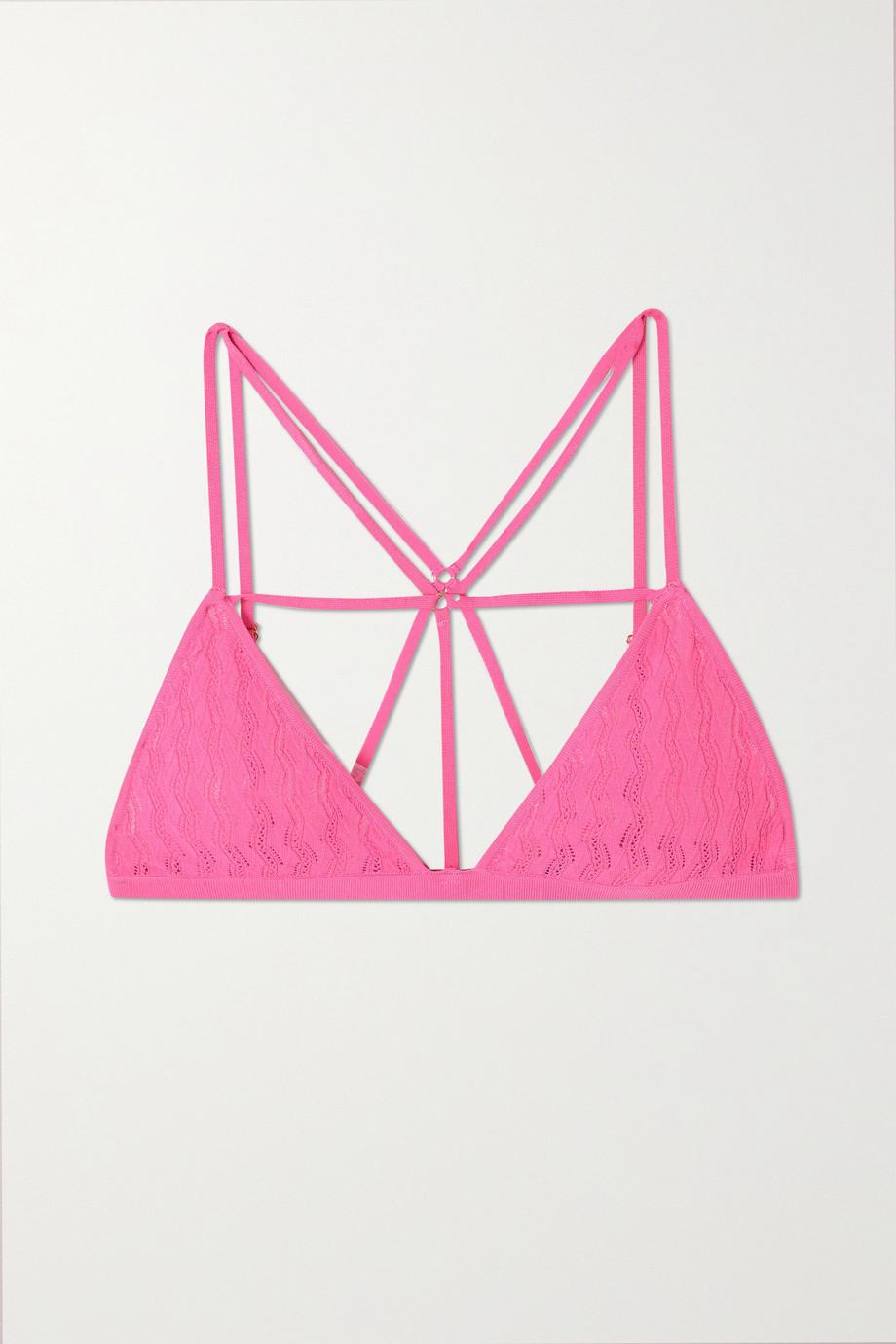 Dodo Bar Or Barbara pointelle-knit soft-cup triangle bra
