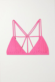 Dodo Bar Or Barbara pointelle-knit soft-cup triangle bra