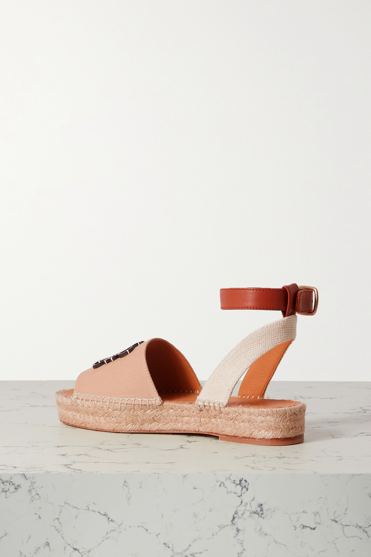 Loewe Sandales façon espadrilles en toile et en cuir x Paula's Ibiza