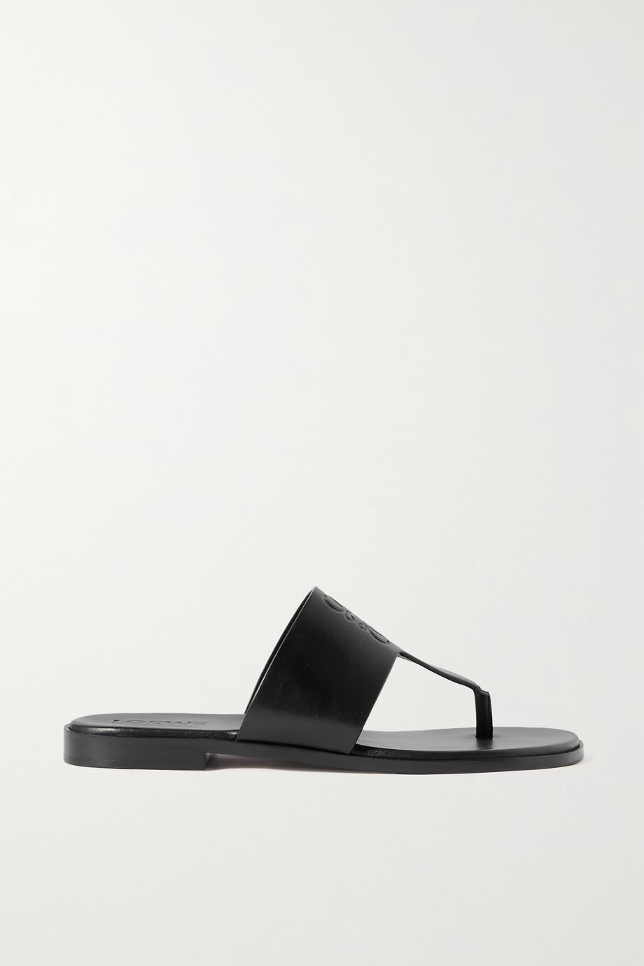 Loewe + Paula's Ibiza logo-debossed leather sandals