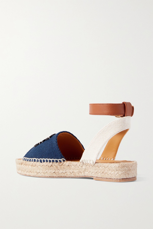 Loewe + Paula's Ibiza Espadrille-Sandalen aus Canvas und Leder