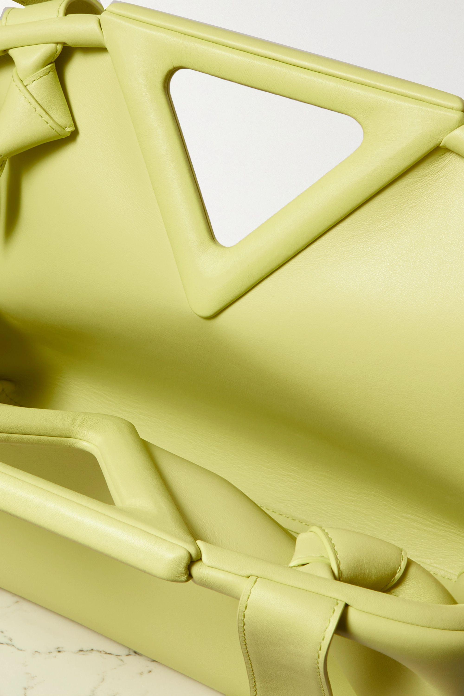 Bottega Veneta Sac à main en cuir fluo Point Medium