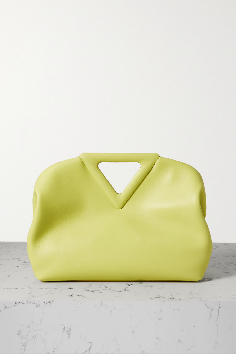 Bottega Veneta Sac à main en cuir fluo Point Medium