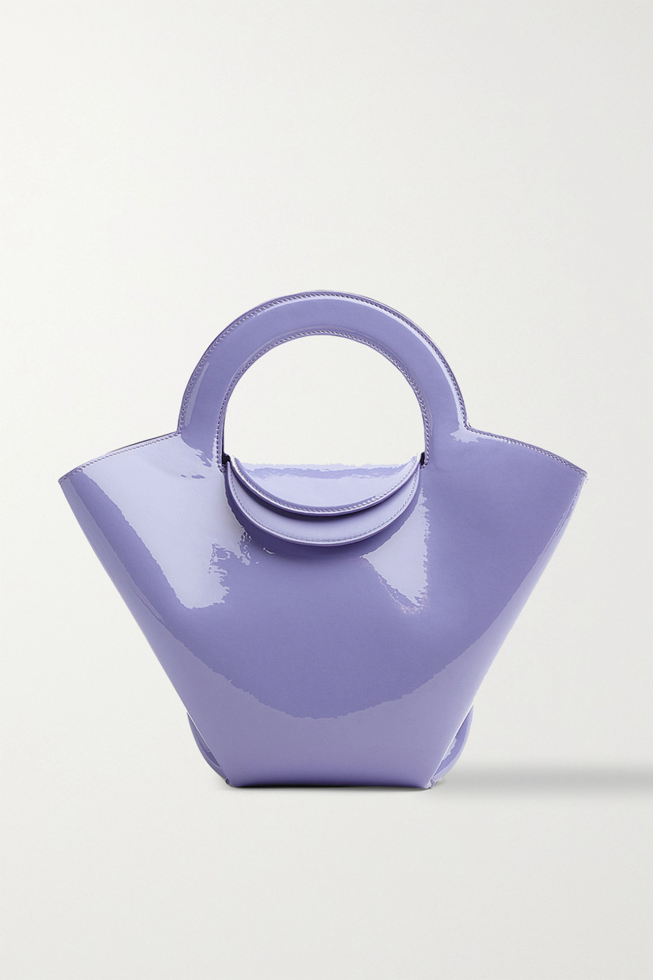 Bottega Veneta Sac à main en cuir verni Doll Small