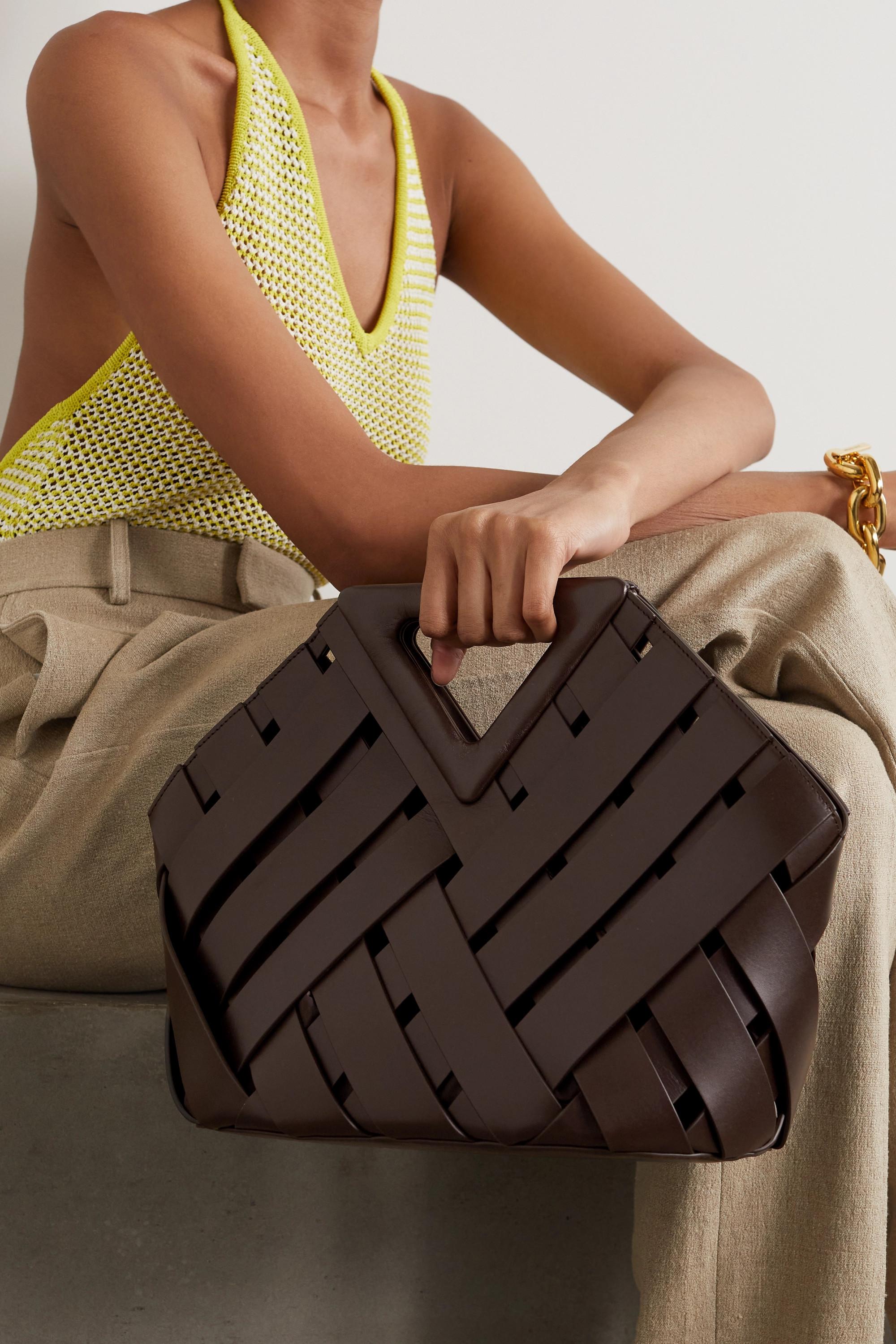 Bottega Veneta Sac à main en cuir intrecciato Point Basket