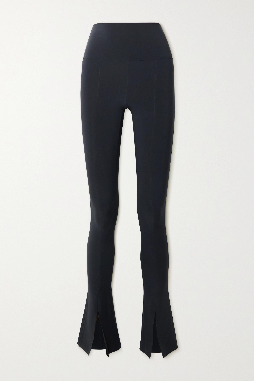 Norma Kamali Spat stretch-jersey flared leggings