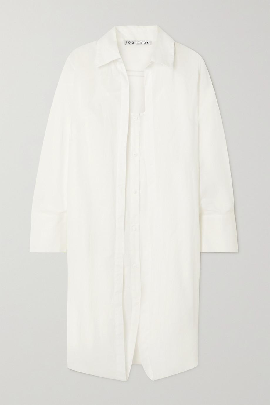 ioannes Robe-chemise à superposition en coton